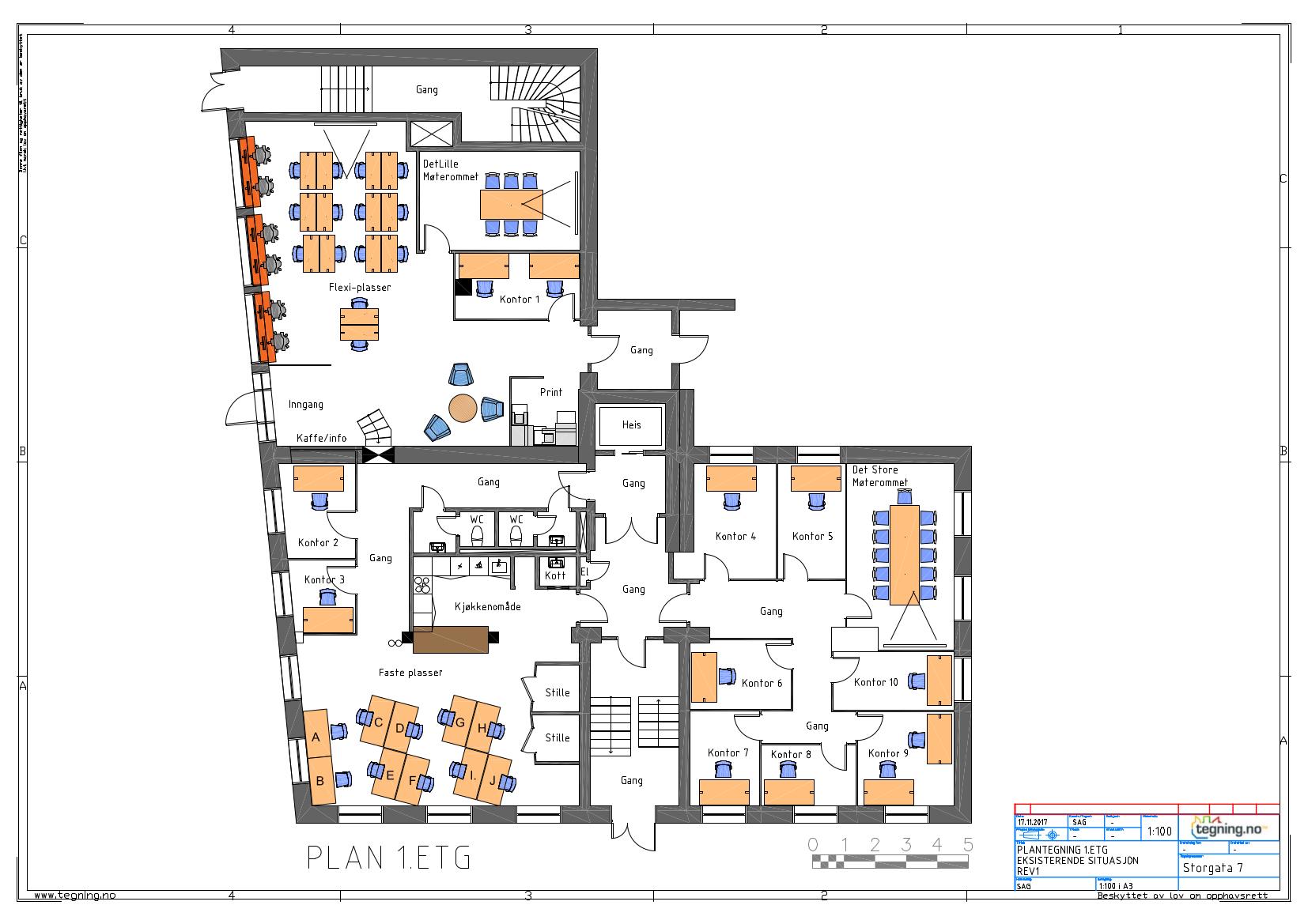 Storgata 7 - Business Lillestrøm - plantegning